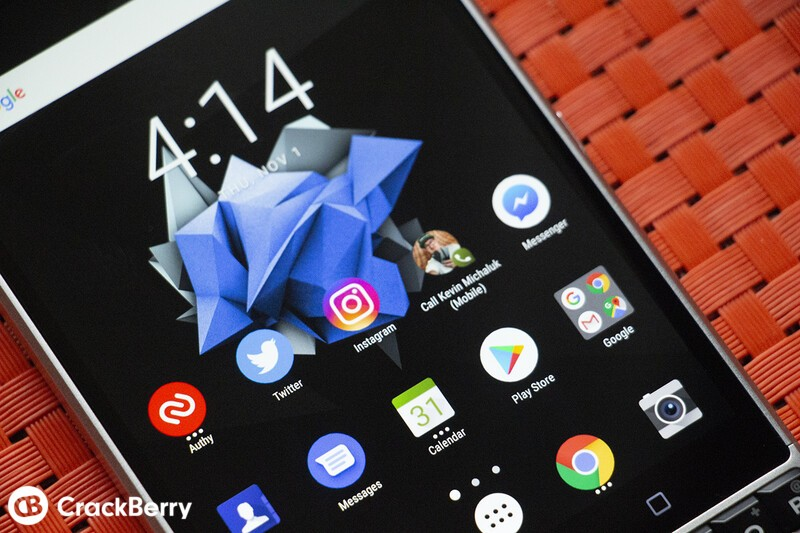 BlackBerry KEY2 homescreen