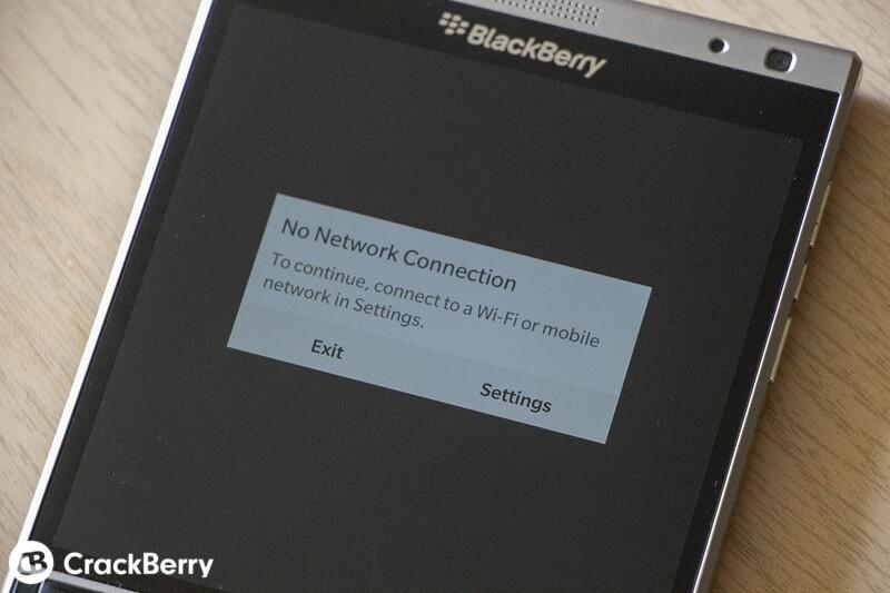 Blackberry World No Connection Error Message