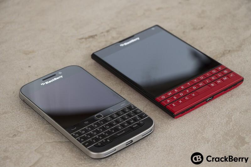 BlackBerry Classic and BlackBerry Passport