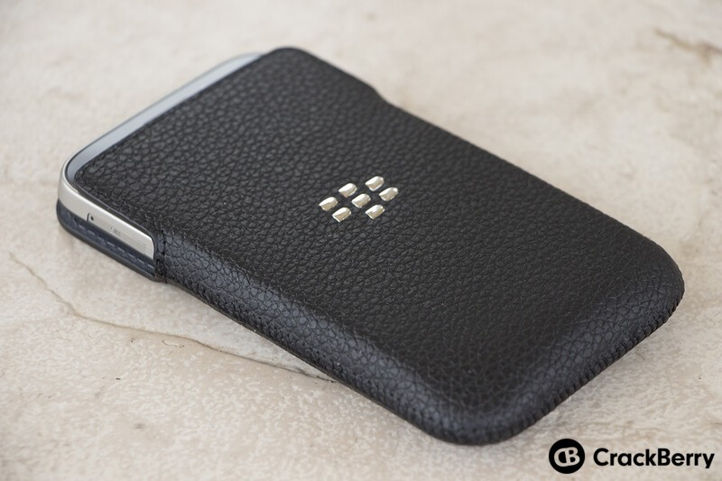 BlackBerry Classic in leather pouch