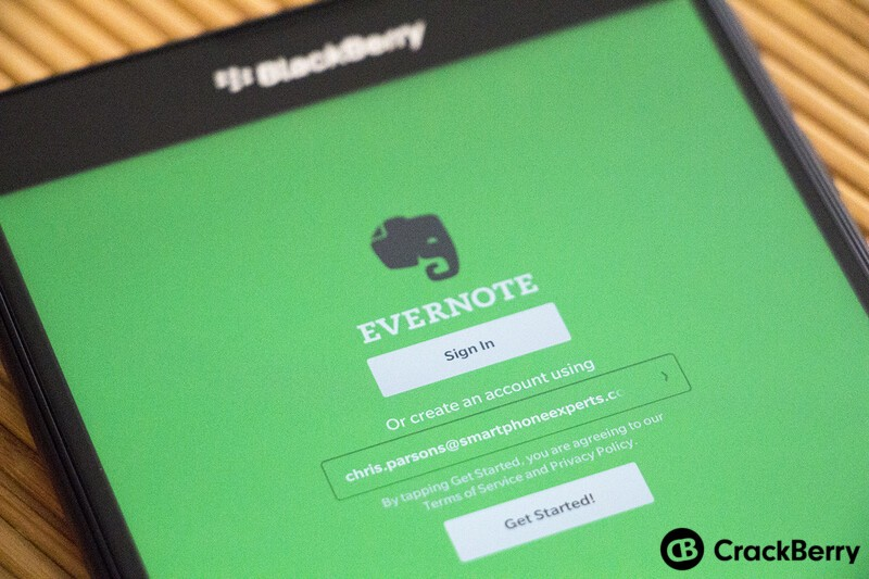 Evernote for BlackBerry 10 updated in the Beta Zone