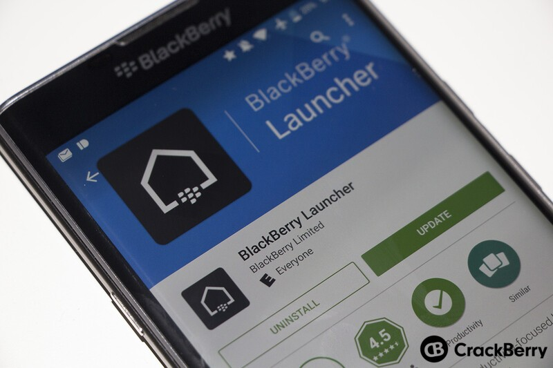 BlackBerry Launcher update allows you to set a default home screen and remove apps with a flick