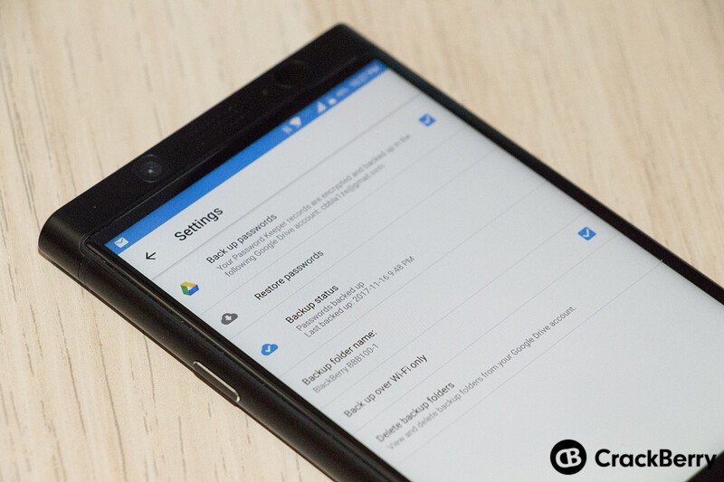 BlackBerry Password Keeper beta adds support for Google Drive backup and restore