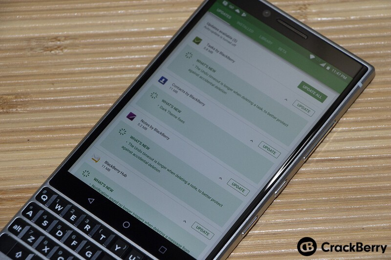 BlackBerry Hub Updates