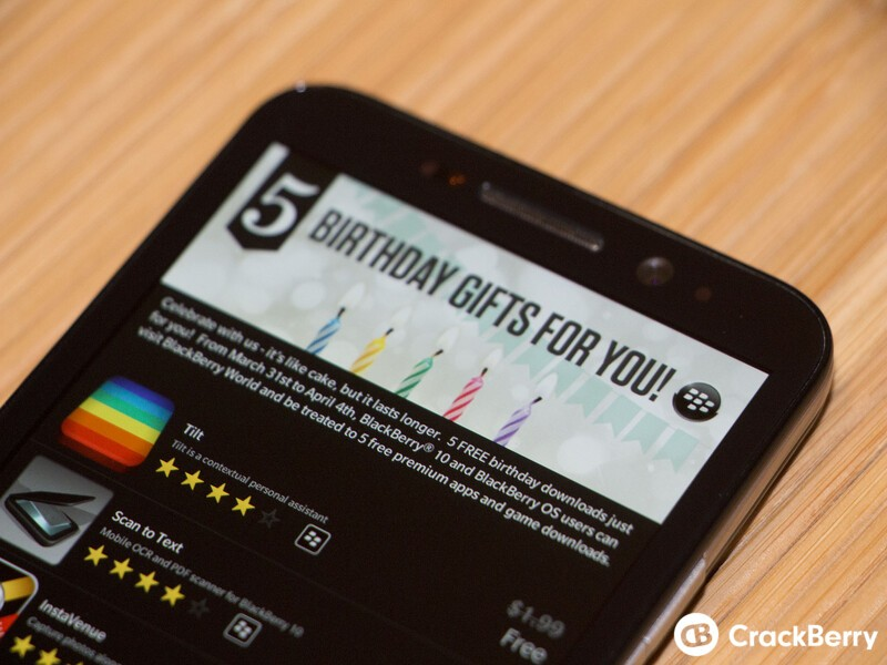 Celebrate 5 years of BlackBerry World with 5 free premium
