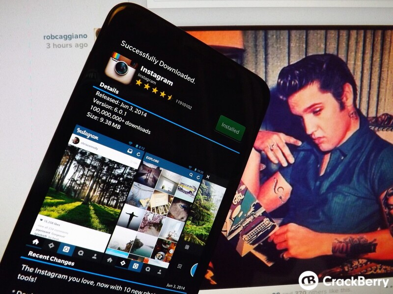 Get Instagram 6 0 1 on your BlackBerry right now! | CrackBerry com