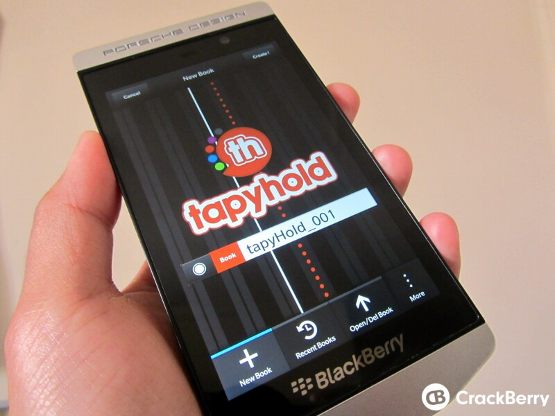 Get scrapbooking with Tapyhold for BlackBerry 10