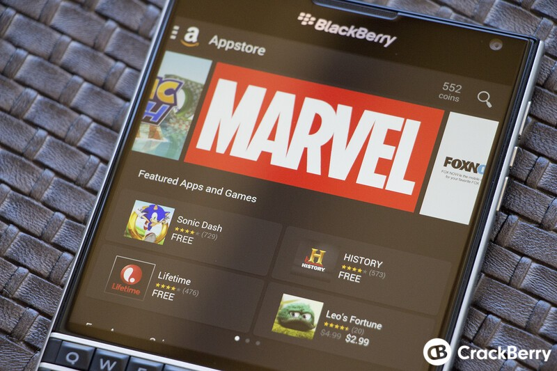 Amazon Appstore on the BlackBerry Passport
