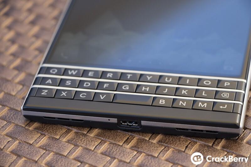 BlackBerry Passport keyboard
