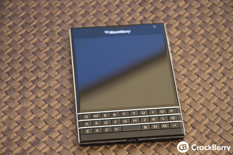 Typing on the BlackBerry Passport