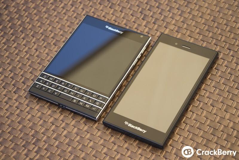 BlackBerry Passport and BlackBerry Z3