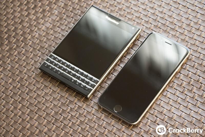 BlackBerry Passport and iPhone 6
