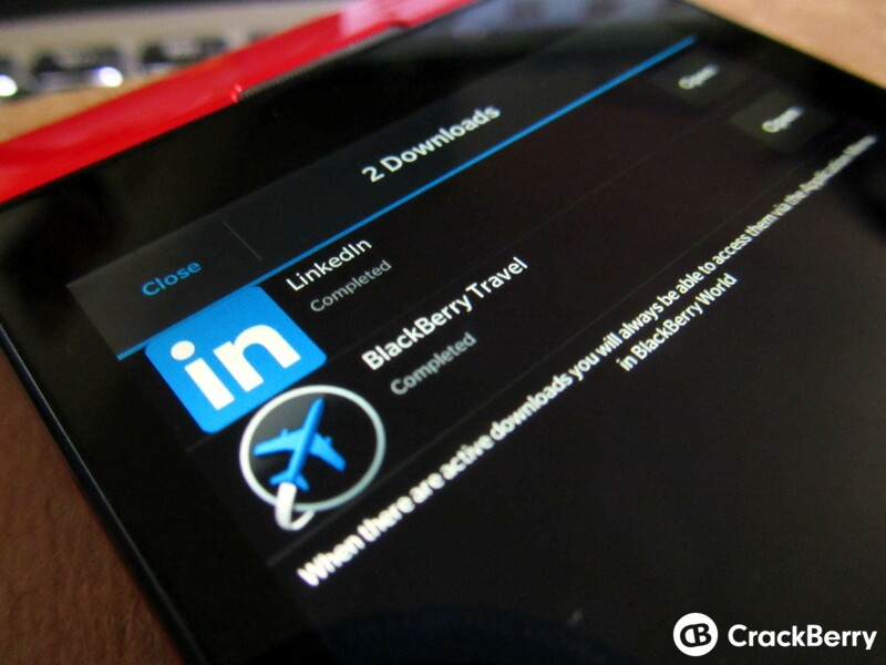 BlackBerry Travel and LinkedIn updated to support the BlackBerry Passport