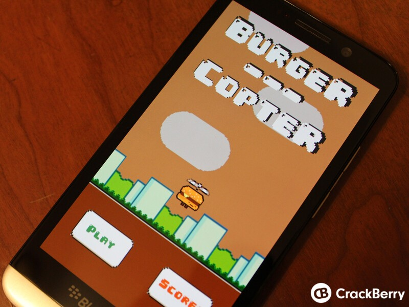BurgerCopter is a simple yet challenging game for your BlackBerry device