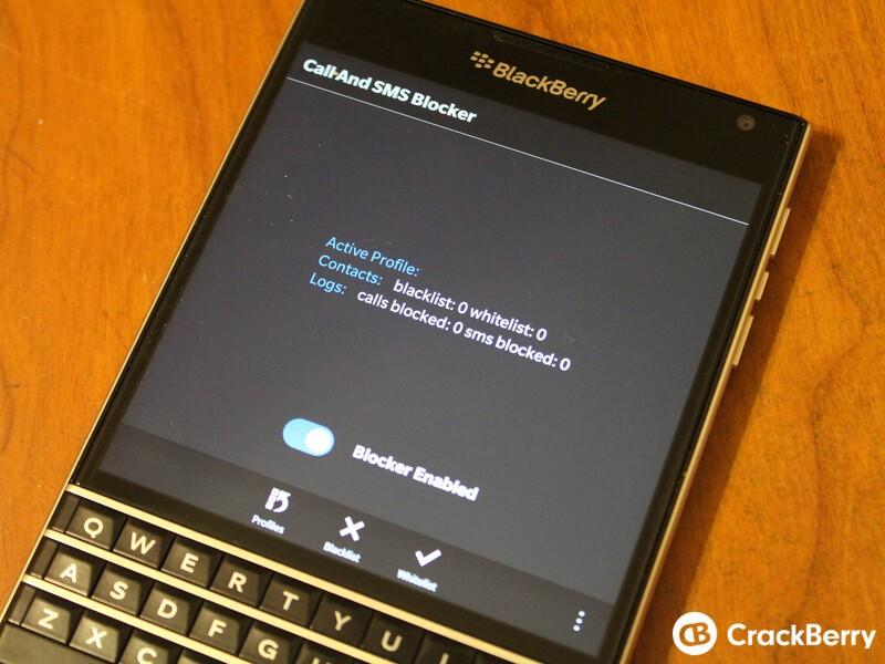 Call blocker for blackberry - call blocker blackberry