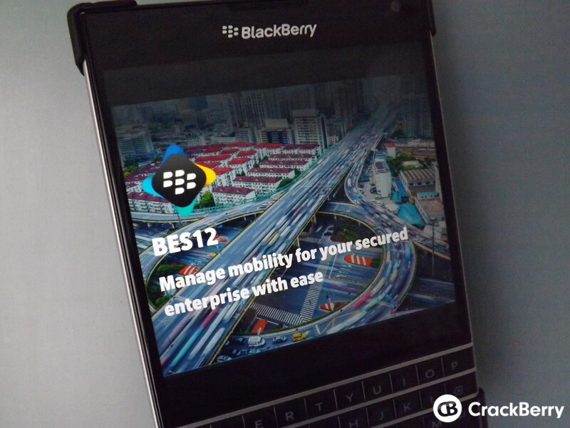 BlackBerry Enterprise Products and Services webcast