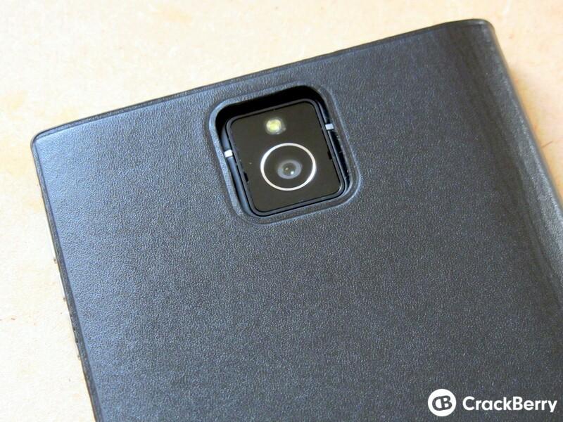 BlackBerry Passport Leather Flip Case Camera Cut out