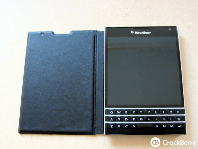 BlackBerry Passport Leather Flip Case Open View