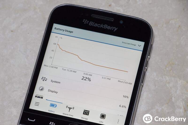 BlackBerry Classic Battery Life