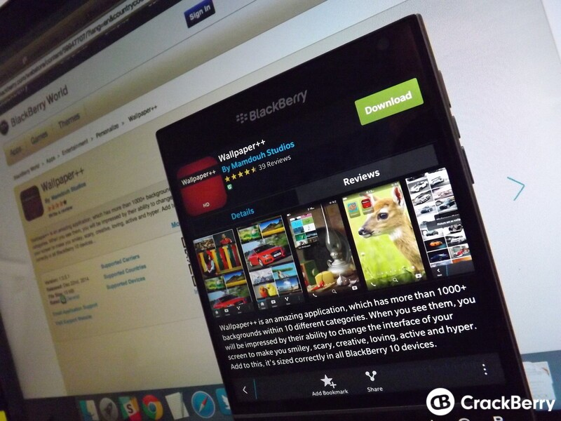 Wallpaper++ for BlackBerry 10 turns from paid to free