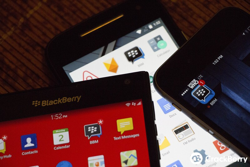 BBM for BlackBerry 10, iOS and Android updates now available