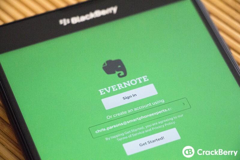 Evernote for BlackBerry 10 updated to v5.6.0.920