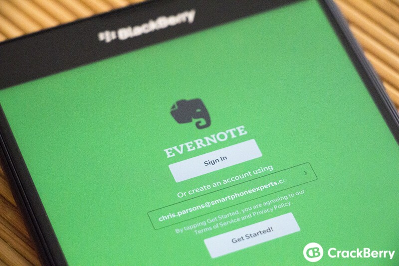 Evernote for BlackBerry 10 updated to v5.6.0.920