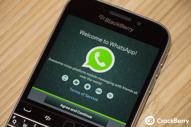 WhatsApp rolls out small update through the BlackBerry Beta Zone
