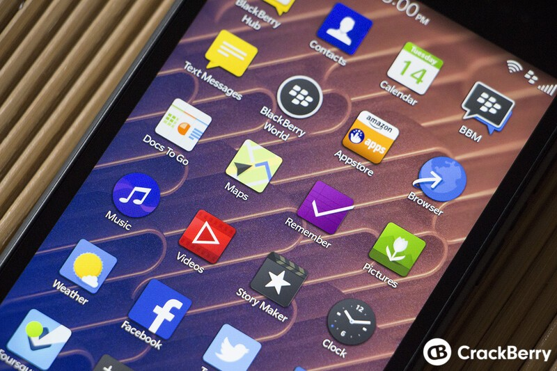 BlackBerry Leap Display