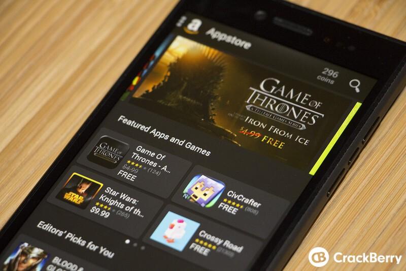 BlackBerry Leap Amazon App Store