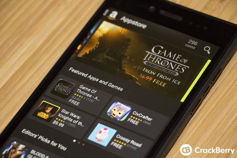 BlackBerry Leap Amazon App Store