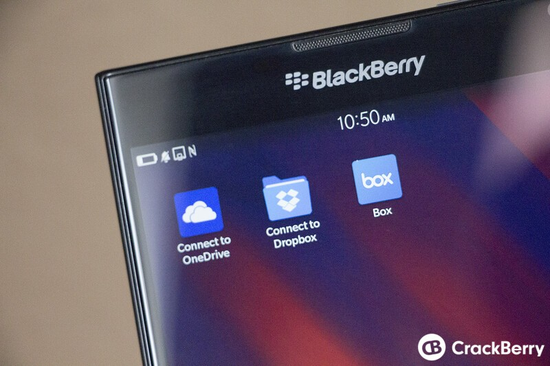 Connect to Box, Dropbox and Microsoft OneDrive all updated in BlackBerry World