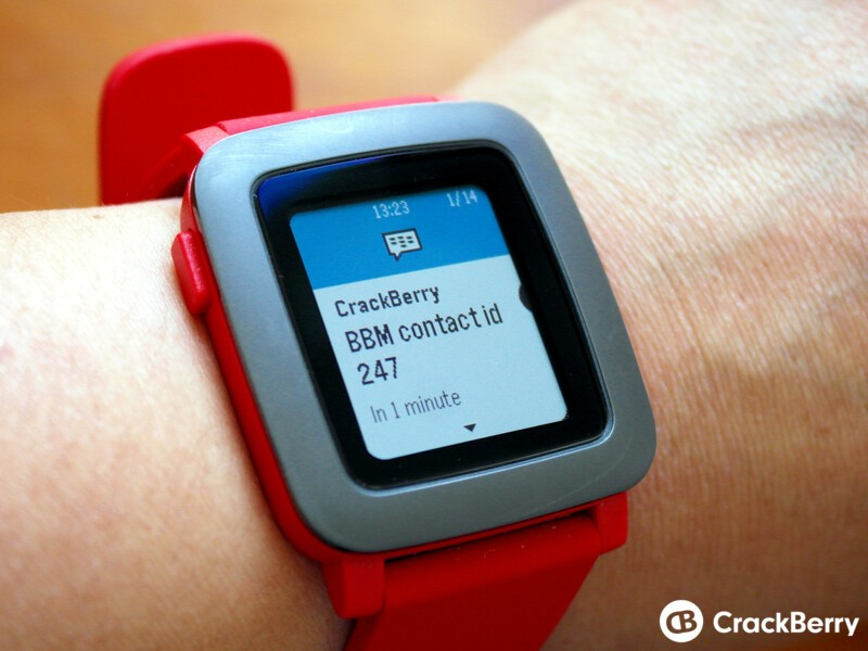 Pebble Time BBM notification