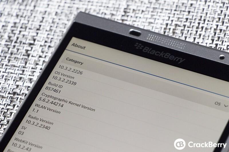 Blackberry Passport SE OS Screen