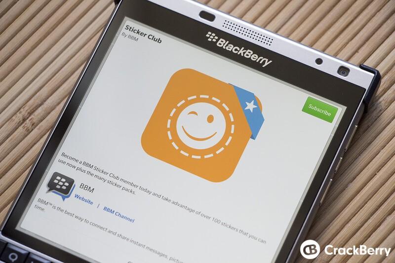 BlackBerry preparing subscription offering for BBM sticker packs