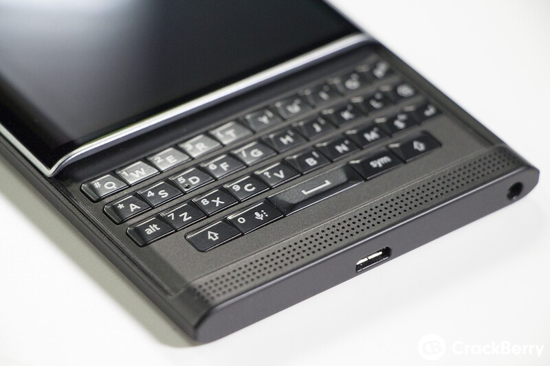 BlackBerry Priv keyboard