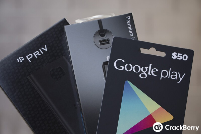 Enter now to win BlackBerry Priv accessories and a $50 Google Play gift card!