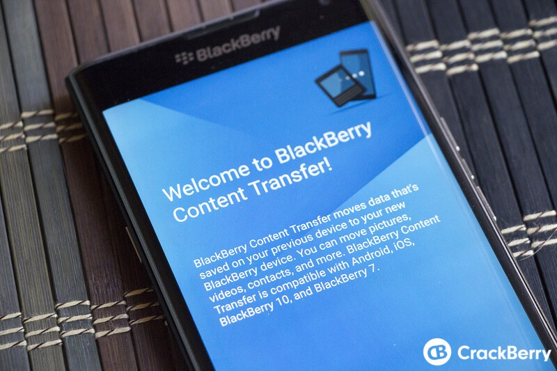 Content Transfer now moves SMS and email accounts to your Priv from other Android phones