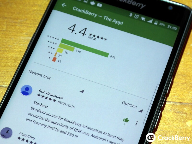 You can now 'thumbs up' individual app reviews in the Google Play app