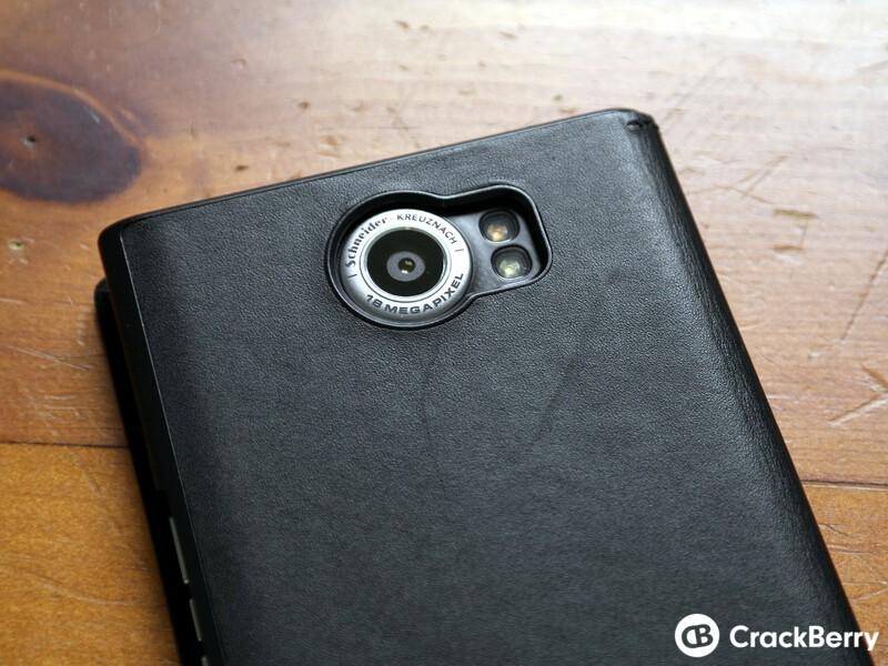 Priv Leather Flip Case Camera cut out
