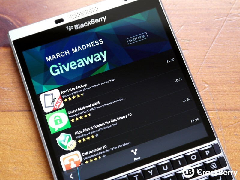 March Madness Giveaway lets you score some great apps from BlackBerry World for free