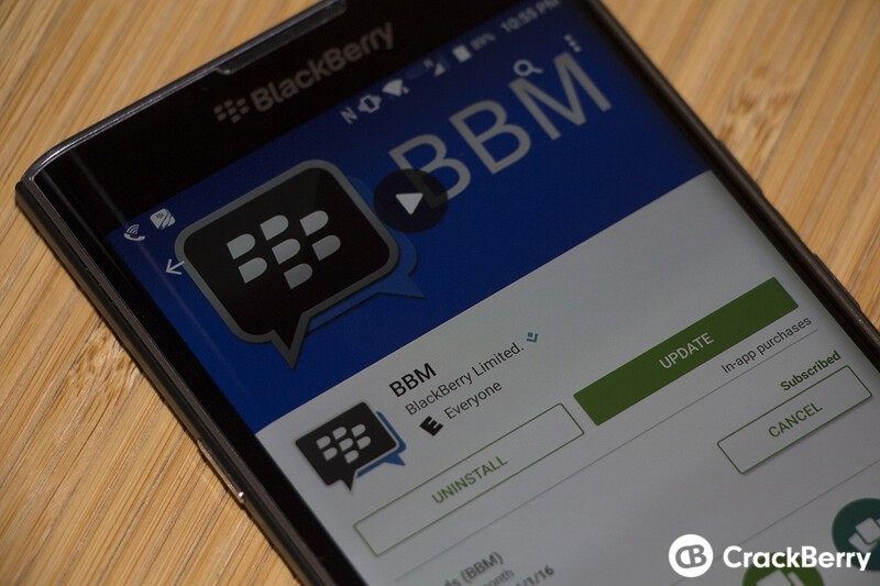 BBM for Android update brings bug fixes and improvements