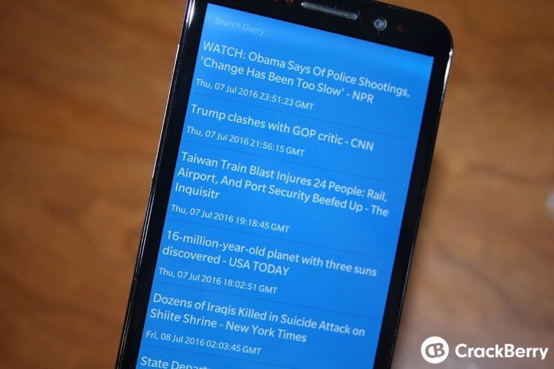 Bulletin is a quick, curated news app for BlackBerry 10