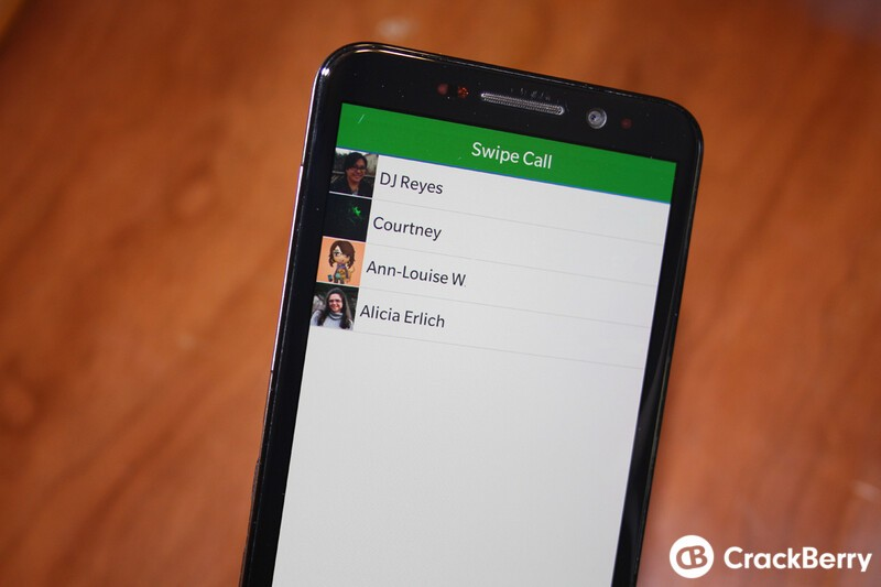 SwipeCall is a fast and easy way to place a call on BlackBerry 10