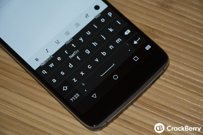 BlackBerry DTEK60 Keyboard