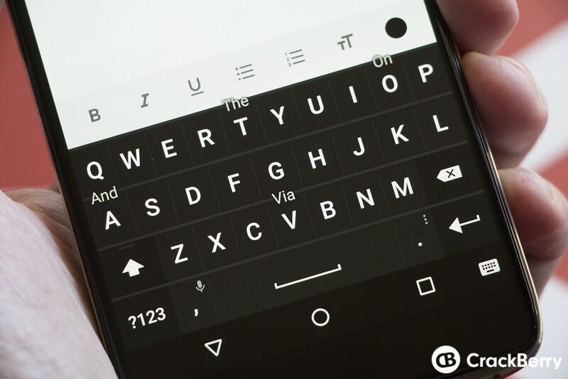 DTEK60 keyboard