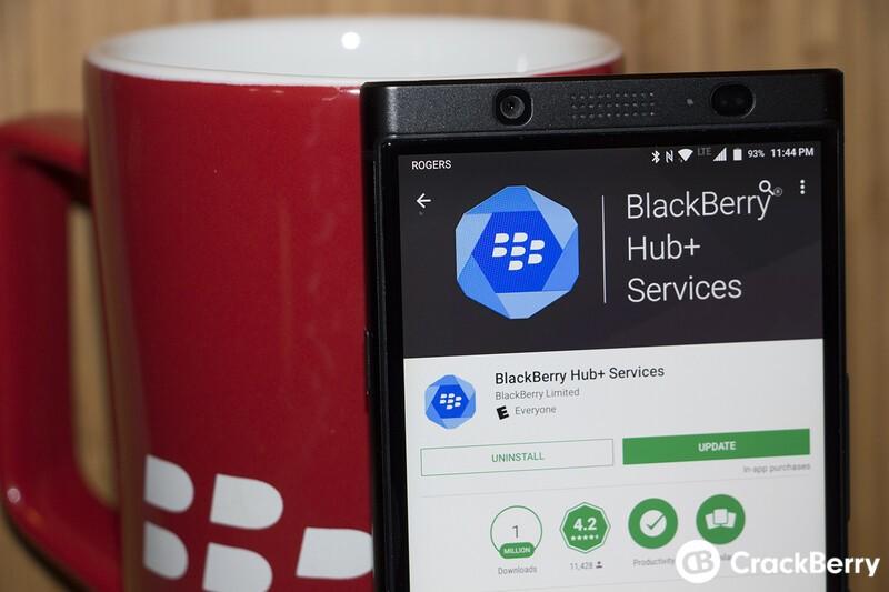 BlackBerry Hub+ Services