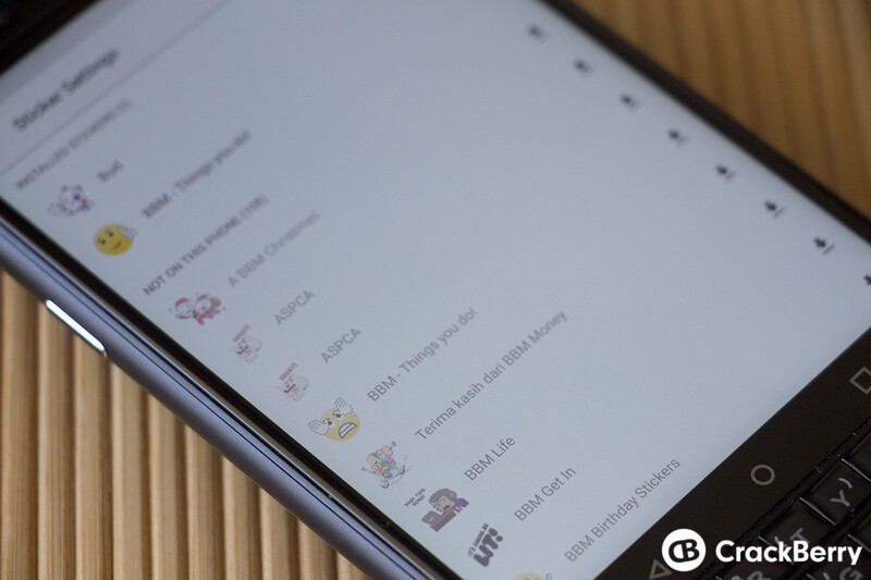 How to remove and restore BBM sticker packs on Android