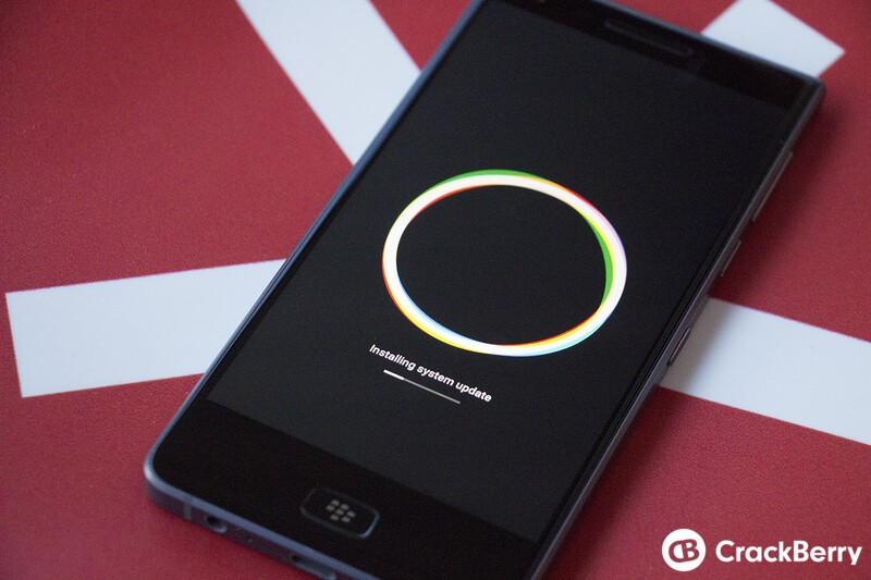 BlackBerry Motion OS install screen
