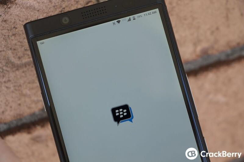 BBM launching on KEYone Black Edition